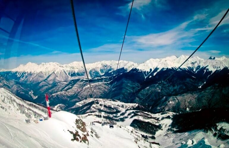 красная поляна Россия горнолыжный курорт