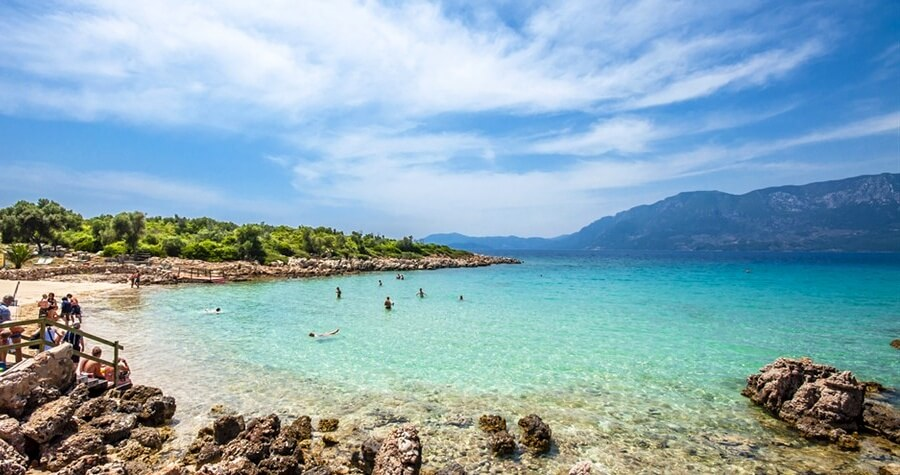 Пляж на острові Клеопатри, Мармарис
